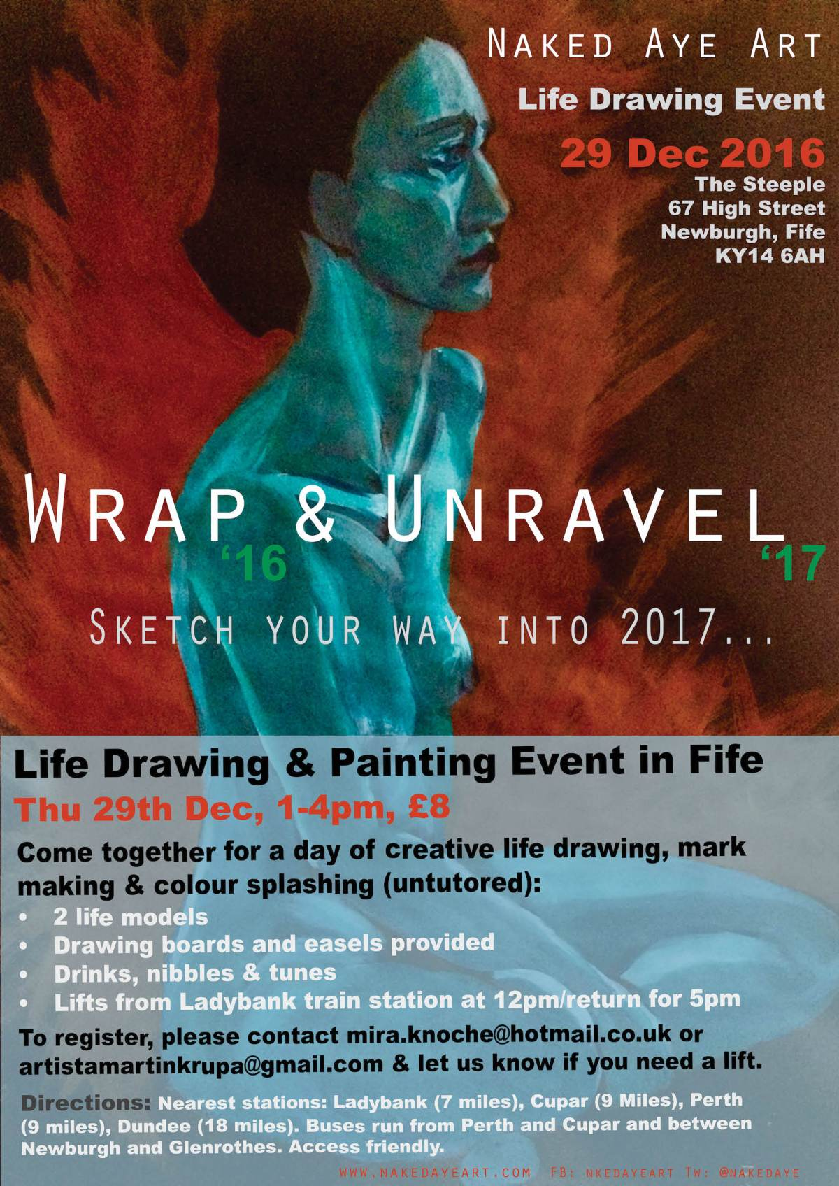 Wrap & Unravel Life-Drawing Event in Fife